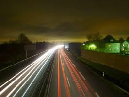 Bilder - Best of 2013 - autobahn-nachts-bei-langzeitbelichtung