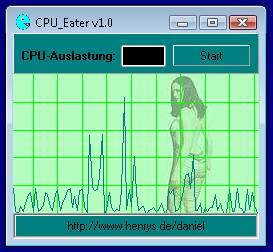 CPU-Eater - Ein Tools zum Abremsen des PC