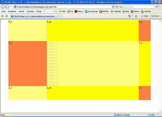 CSS-DIV-Slicer - Höhen-dynamische Webseite mit DIVs