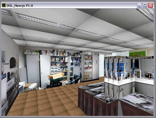 Delphi-Tutorials - OpenGL HENRY's - Ansicht des Raumes 'EDV'