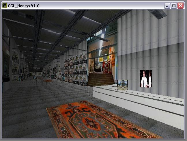 Delphi-Tutorials - OpenGL HENRY's - Nach Geschäftsschluss ist im Raum 'Flur' das Licht ausgeschaltet worden