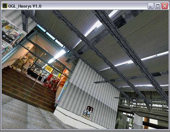 Delphi-Tutorials - OpenGL HENRY's - Ansicht des Raumes 'Flur' in gekippter Perspektive