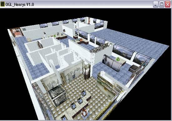 Delphi-Tutorials - OpenGL HENRY's - Flug über den Raum 'Info'