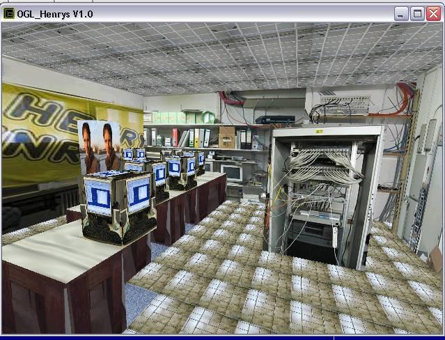 Delphi-Tutorials - OpenGL HENRY's - Mein von Technik dominiertes Büro im Raum 'Info'