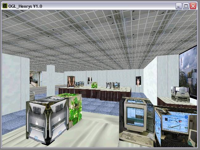 Delphi-Tutorials - OpenGL HENRY's - Home-Position im Raum 'Info' vom Auktionshaus HENRY's