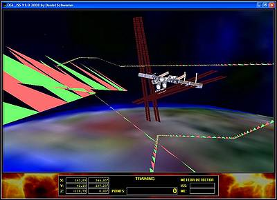 Delphi-Tutorials - OpenGL ISS - Drawing of the flight path of our spaceship