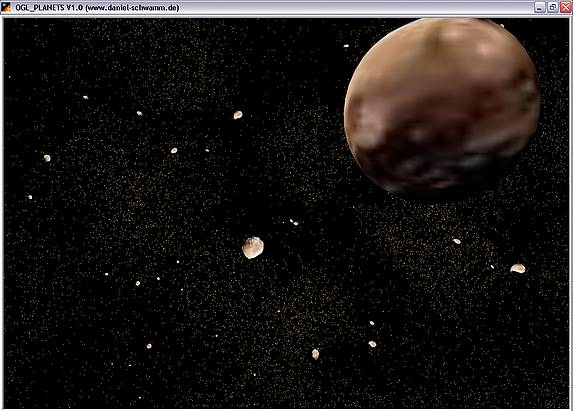 Delphi-Tutorials - OpenGL Planets - Asteroids in space - Ceres & Co.