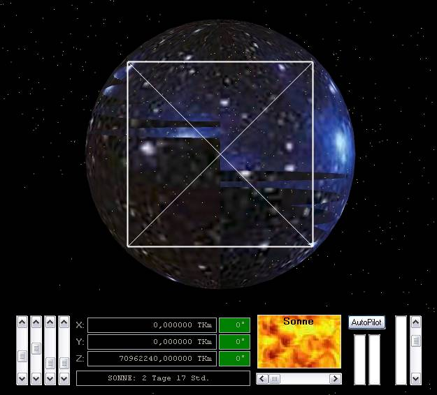 Delphi-Tutorials - OpenGL Planets - Out of the Universe - sphere of space from outside