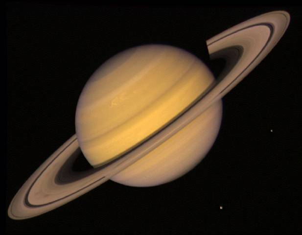 Delphi-Tutorials - OpenGL Planets - The real Saturn - Photo from NASA