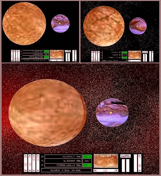 Delphi-Tutorials - OpenGL Planets - Different modes of dust ins space