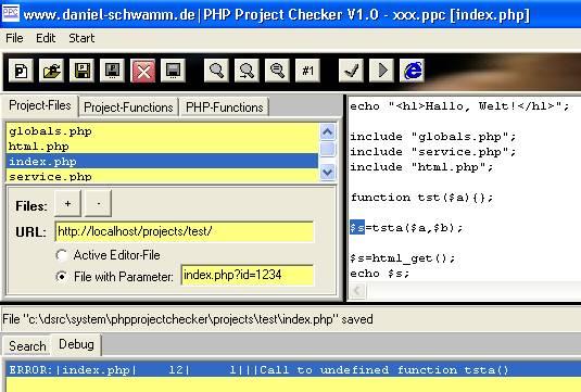 PHP-Project-Checker - Sprung zum PHP-Parser-Error