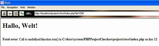 PHP-Project-Checker - PHP-Parser-Error