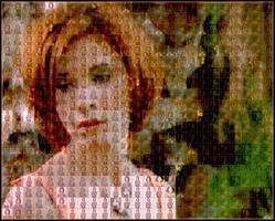 Delphi-Tutorials - Pic-of-Pictures (Mosaik-Collage) - Demo: Sabrina Lloyd as mosaic wallpaper