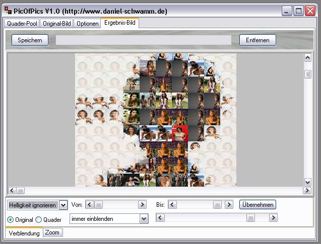Delphi-Tutorials - Pic-of-Pictures (Mosaik-Collage) - Ergebnis: Verblendung Helligkeit III