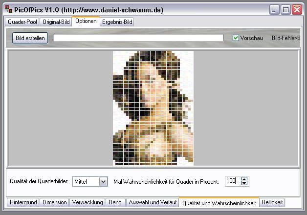 Delphi-Tutorials - Pic-of-Pictures (Mosaik-Collage) - Optionen: Mal-Wahrscheinlichkeit II