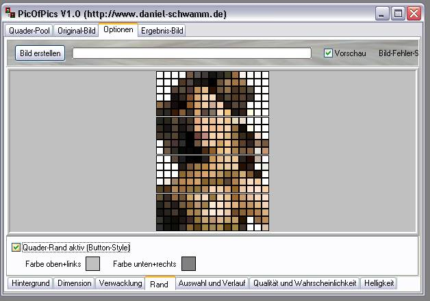 Delphi-Tutorials - Pic-of-Pictures (Mosaik-Collage) - Optionen: Rand an