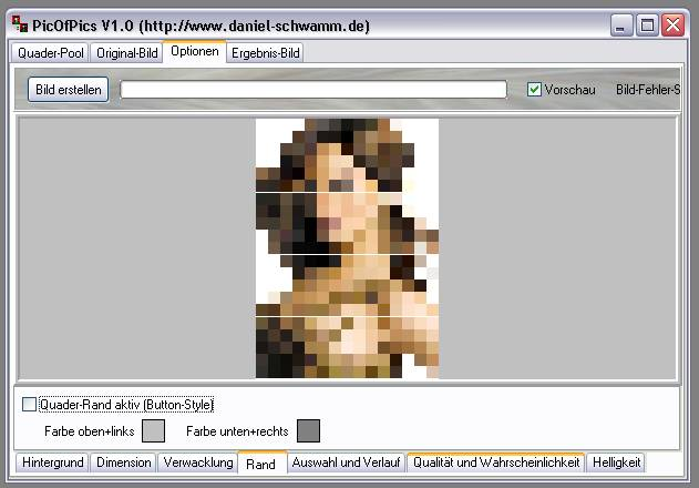 Delphi-Tutorials - Pic-of-Pictures (Mosaik-Collage) - Optionen: Rand aus