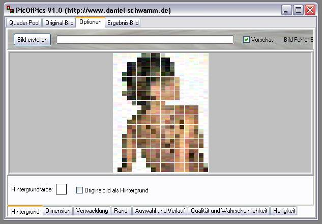 Delphi-Tutorials - Pic-of-Pictures (Mosaik-Collage) - Optionen: Register-Page