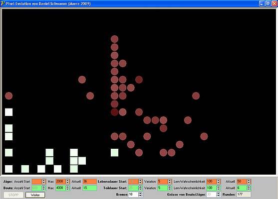 Pixel-Evolution - Strategie III: Beute in die Ecke gedrängt