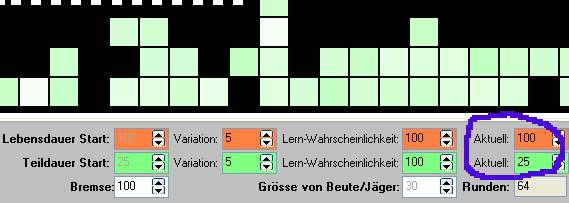 Pixel-Evolution - Lernen-SpinEdits in Evolutions-Runde 64