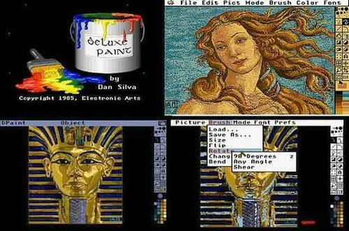 Sprite-Painter - Deluxe Paint auf Amiga