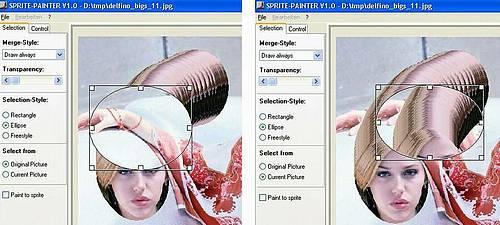 Sprite-Painter - Selektion vom Original oder aktuellem Bild