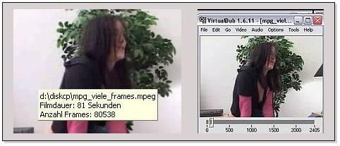 Delphi-Tutorials - Video-Splitter - Unterschiedlich viele Frames im MPG: TMediaPlayer versus VirtualDub
