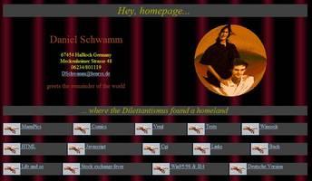 News - Homepage-Version vom 02.07.1998: Startseite, englische Version