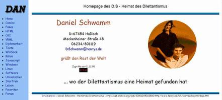 News - Homepage-Version vom 09.12.2000: Startseite