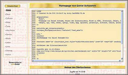 PHP - Src2Textarea - alte Homepage